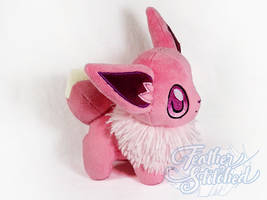Pink Eevee Plush by FeatherStitched