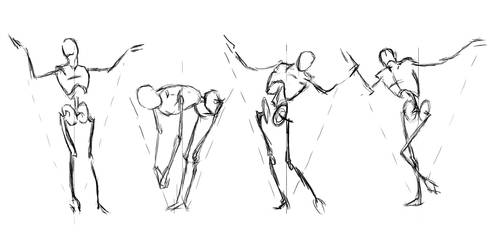 Some Loomis Figure Draw by rafascheffer