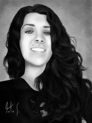 My girlfriend's portrait by rafascheffer