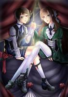 -Roses jumelles- by KawasuYokune
