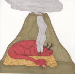 Sleeping Valcano by Madty