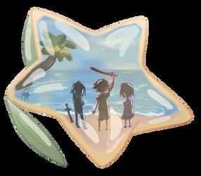 Destiny Island Trio by MeirRayne