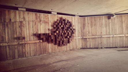 Wood Deco in Old Sacrmento Tunnel by TheShiningPolaris
