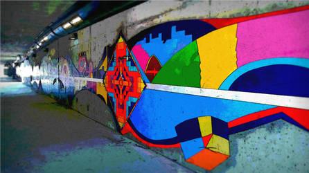 Cool Old Sacramento Tunnel and Graffiti by TheShiningPolaris