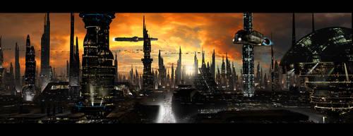 Futuristic City by rich35211
