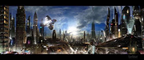 Futuristic City 3 by rich35211