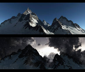 Mountain Sky Test by rich35211