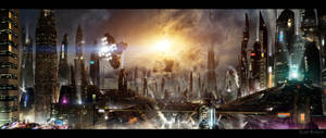 Futuristic City 3 updated background by rich35211