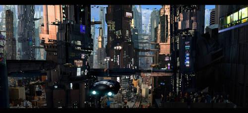 Futuristic City 5 crop by rich35211