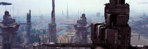 Futuristic City 6 by Scott Richard Dual Screen by rich35211