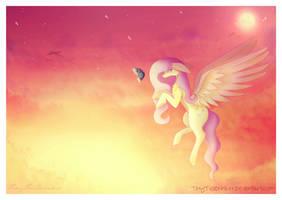 Sunset Fluttershy by TinyTeaDrinker