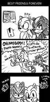 Sonic and Shadz: BFF by ojamajodoremidokkan