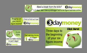 3daymoney Banners by fartoolate