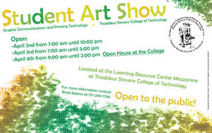 Student Art Show Poster by fartoolate