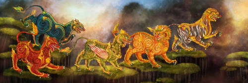 Creatures of Himmapan  2 by pavari