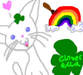 Cat with the Clovers by TabbysHorrorQueen