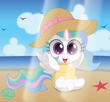 Celestia's Beach Day by SpellboundCanvas