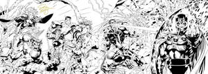 X-men #1 Jim Lee Cover Inks by SWAVE18