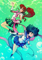 Sailor Mercury X Jupiter !! by oOCherry-chanOo