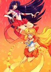 Sailor Mars x Venus !! by oOCherry-chanOo