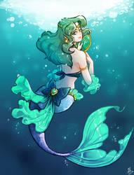 Sailor neptune - Mermaid by oOCherry-chanOo