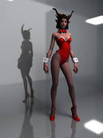 Tera Castanic Red sexy fashion set by deant01