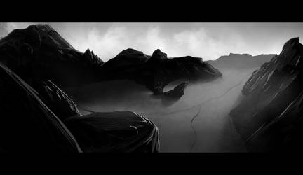 Empty Dark Canyon (30min Speedpaint) by jullianpablo