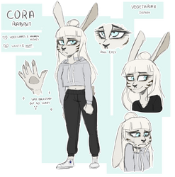 Cora [furry ref] v2 by HunterDream14