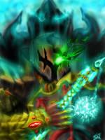 crusader vs Malthael the Angel of Death..diabloIII by gossj10