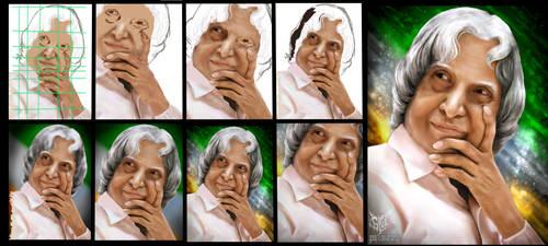 step by step DR APJ Abdul Kalam by gossj10
