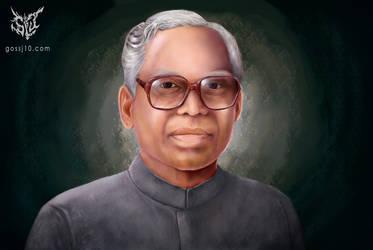 K. R.Narayanan portrait by gossj10