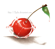Cherry in the ice cube by Sydia