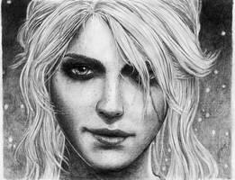 Ciri Portrait by Jooleya