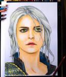 Ciri Coloured Pencil by Jooleya