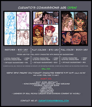 Commission Sheet 2017 by curantodraws