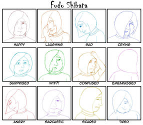 Expressions Meme for Fudo by usedbooks