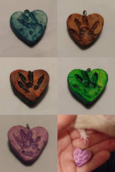 Pawprint Hearts by usedbooks