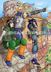 NARUTO LET'S GO coloured by clingwrap