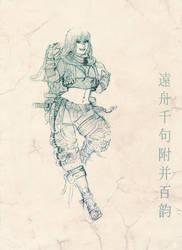 una kunoichi by ripper-zombie