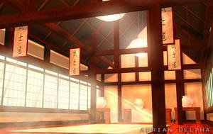 Asian Dojo or Temple by DelphaDesign