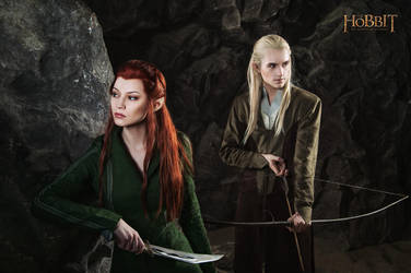 Legolas and Tauriel 2 - The Hobbit cosplay (test) by LuckyStrikeCosplay