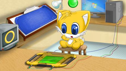 Tails Chao 16:9 Desktop Edition by ConAngel