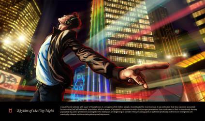 Zyvx: Rhythm of the city Night by katzai