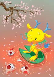Dragon and Koi by katzai