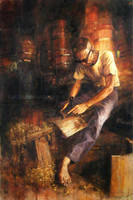 Oyajisan: Barrel maker by katzai