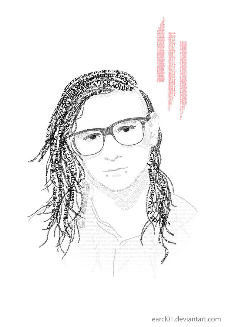 skrillex typography by Earcl01