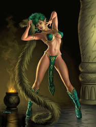 Forest Princess Saria performing a ritual dance! by ILuvSmexyShowgirls