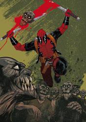 Deadpool pin up by juanpmassa