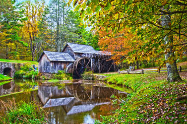 autumn at mabry mill virginia by digidreamgrafix