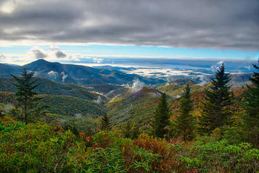 blue ridge parkway smoky mountains north carolina by digidreamgrafix